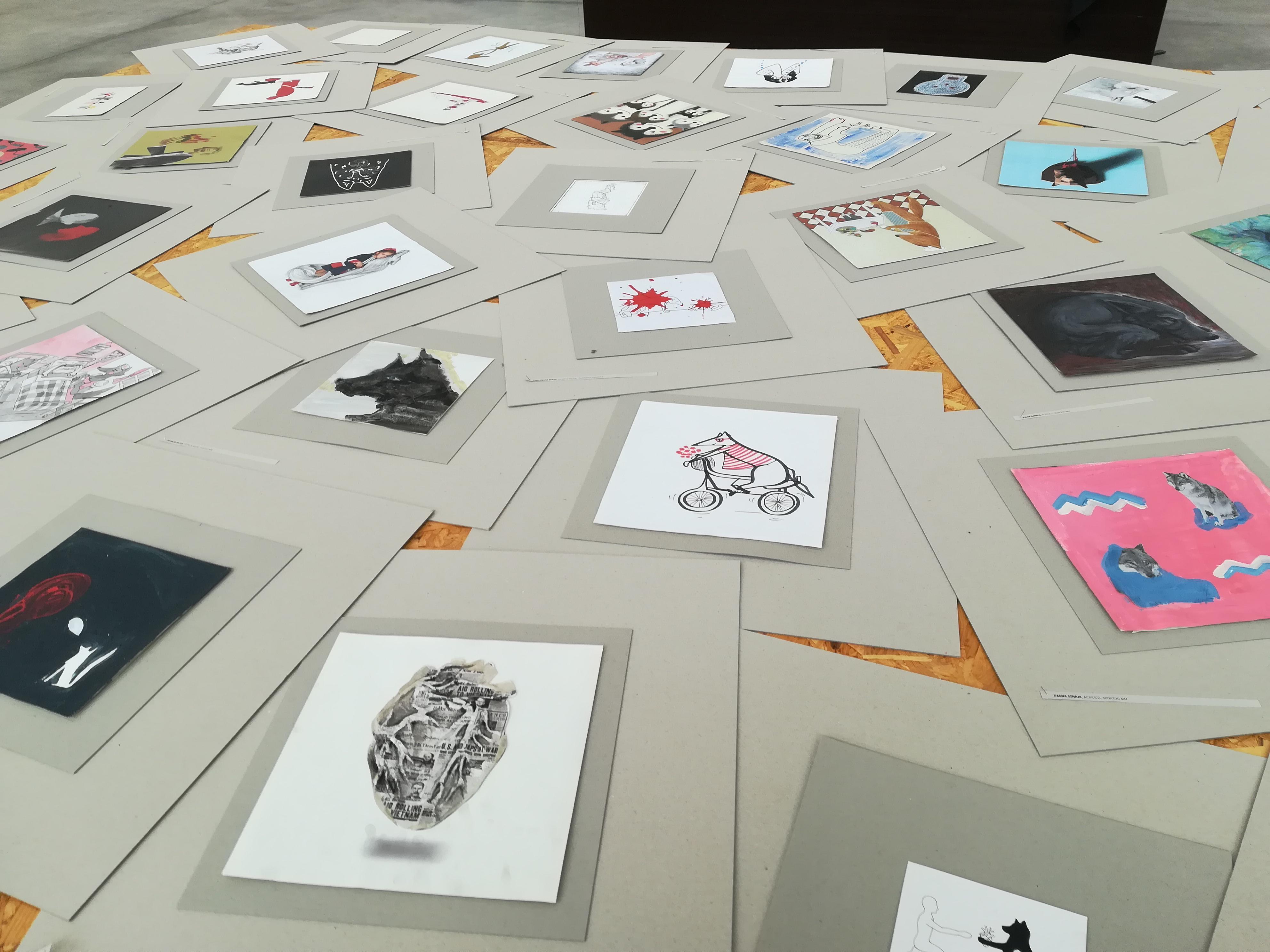 Visitas à Exposição do Encontro Internacional de Ilustração