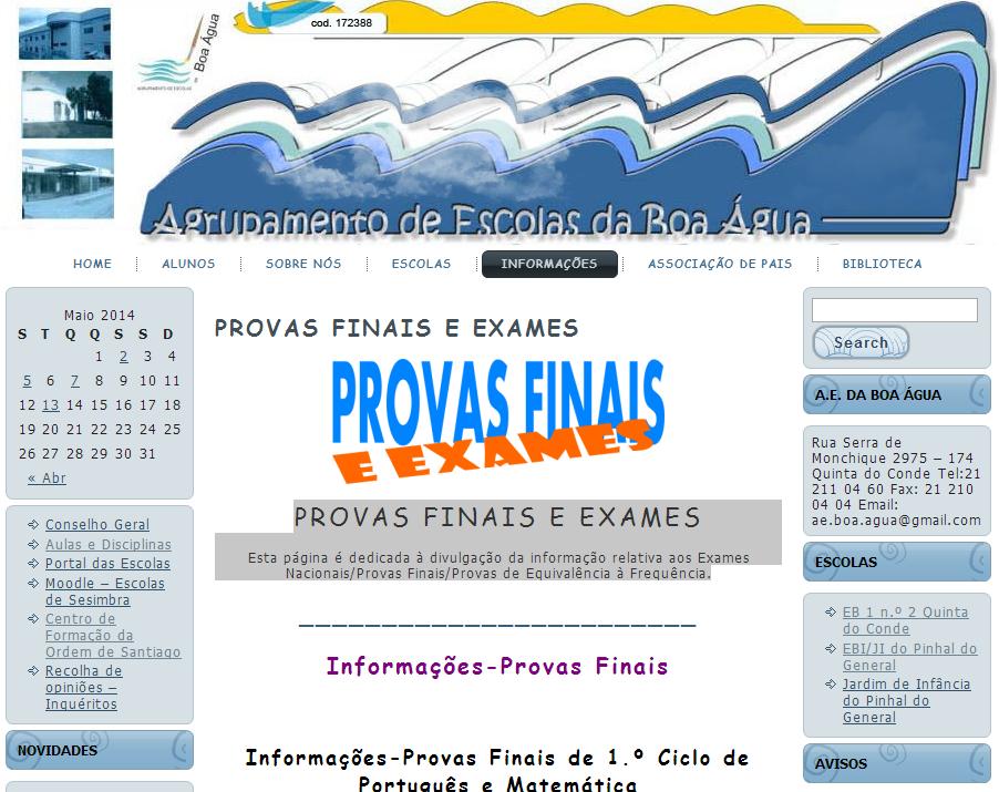 PROVAS FINAIS E EXAMES